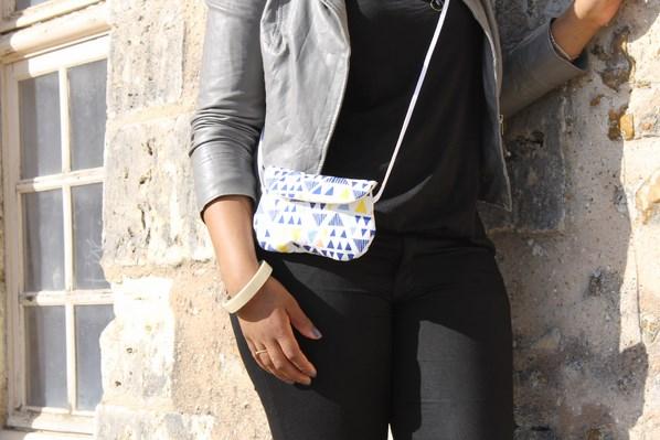 sac bandoulière blanc et bleu