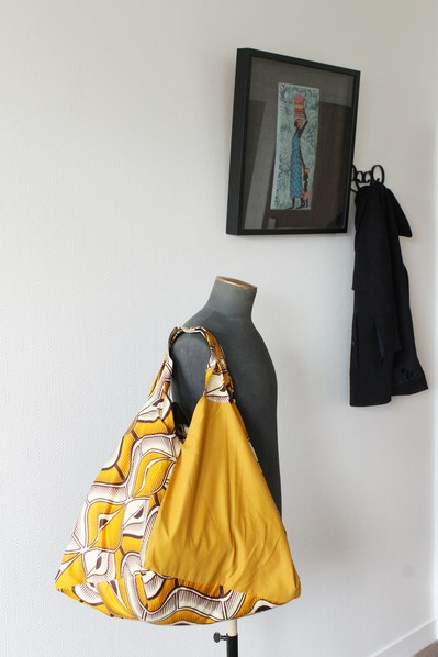sac cabas xxl jaune moutarde