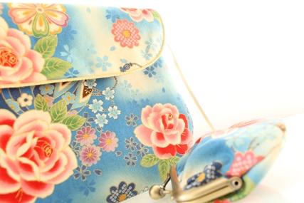 sac bandoulière et porte monnaie en tissu japonais