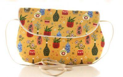 sac bandoulière plantes et fleurs
